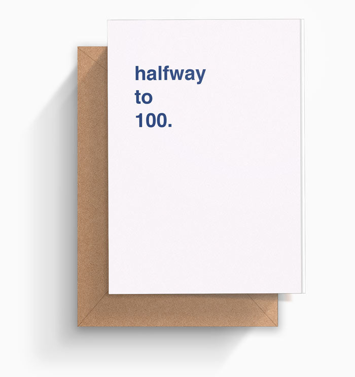 Halfway to 100 birthday card greetings from hell halfway to 100 birthday card bookmarktalkfo Images