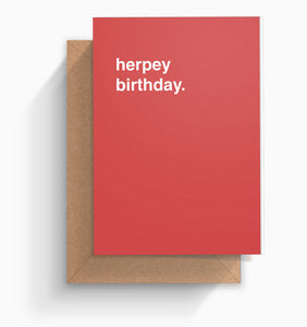"""Herpey Birthday"" Birthday Card"