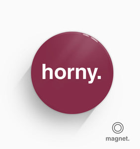 """Horny"" Fridge Magnet"