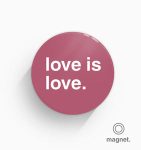 """Love Is Love"" Fridge Magnet"