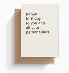 """All Your Personalities"" Birthday Card"