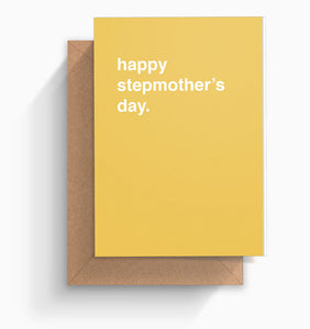 """Happy Stepmother's Day"" Mother's Day Card"