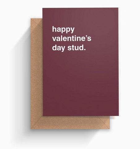 """Happy Valentine's Day Stud"" Valentines Card"