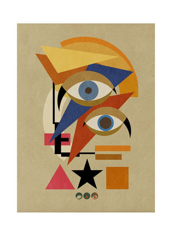 Bauwie Bauhaus THREE - BFA Hub Online Art Gallery www.bfa.gallery Giclée Abstract Deco, Alien, Art Deco, bauwie, canvas, cubism, David Bowie, Deco, Making Shapes, new media, pop, pop art, Pop Deco, Stardust, surreal, Ziggy