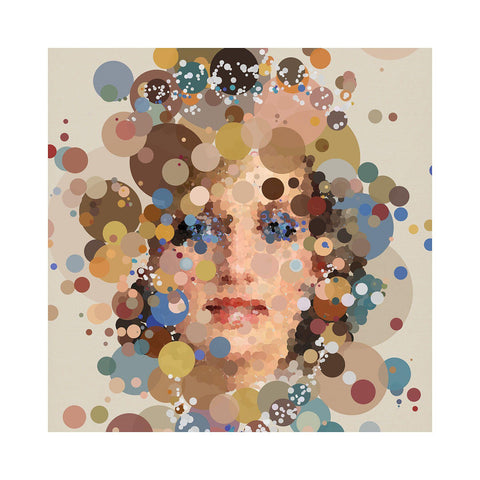 Princess - BFA Hub Online Art Gallery www.bfa.gallery Giclée Abstract Deco, Art Deco, Deco, digital, dots, fizzy, fizzy pop, new media, pointillism, pop, pop art, Pop Deco, Portraits, spots, Square, surreal