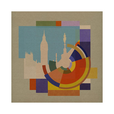 Capital Squares BIG BEN - BFA Hub Online Art Gallery www.bfa.gallery Giclée Abstract Deco, Art Deco, Capital, Deco, Deco London, London, London Collection