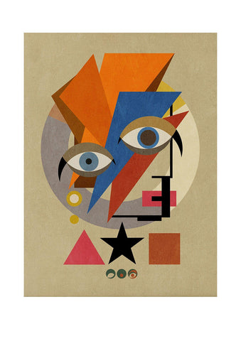 Bauwie Bauhaus ONE - BFA Hub Online Art Gallery www.bfa.gallery Giclée Abstract Deco, Alien, Art Deco, bauwie, canvas, cubism, David Bowie, Deco, Making Shapes, new media, pop, pop art, Pop Deco, Stardust, surreal, Ziggy