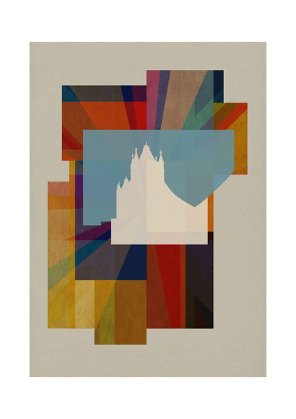 Deco Union - Tower Bridge - BFA Hub Online Art Gallery www.bfa.gallery Giclée art deco, bauhaus, Deco London, deco union