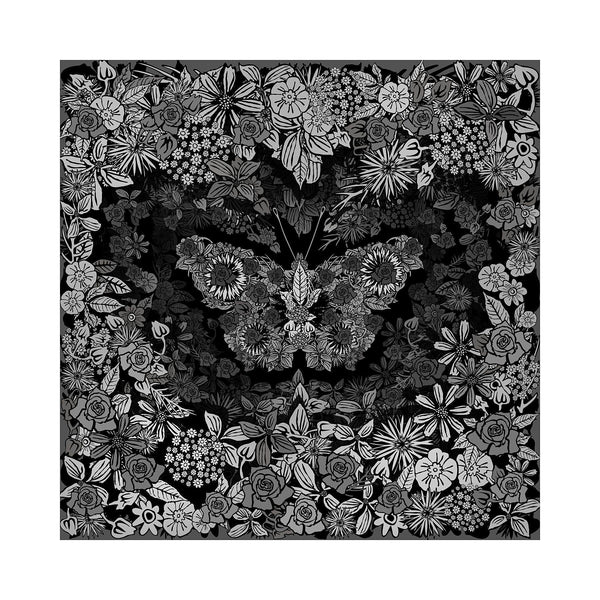 Papillon - BFA Hub Online Art Gallery www.bfa.gallery Giclée Abstract Deco, Art Deco, canvas, Deco, digital, floral, floribond, flowers, moribond, nature morte, new media, pop, pop art, Pop Deco, rose, Square, square deco, still life