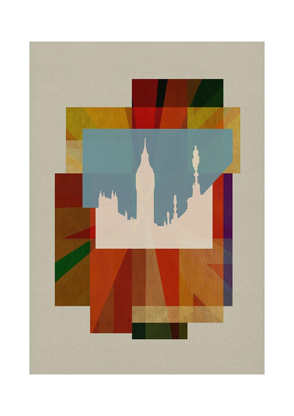 Deco Union - Big Ben - BFA Hub Online Art Gallery www.bfa.gallery Giclée art deco, bauhaus, Deco London, deco union