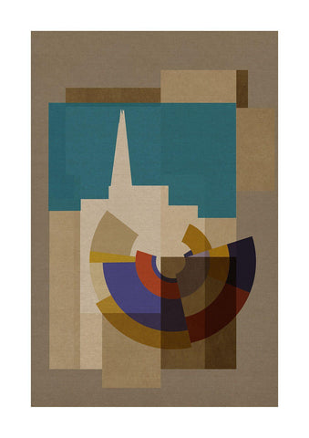 Capital Deco - Shard - BFA Hub Online Art Gallery www.bfa.gallery Giclée Abstract Deco, Art Deco, Bauhaus, canvas, Capital, cubism, Deco, Deco London, London, London Collection, Making Shapes, new media, pop, pop art, Pop Deco