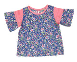 Tiny Floral Print Top - Pink Cbo
