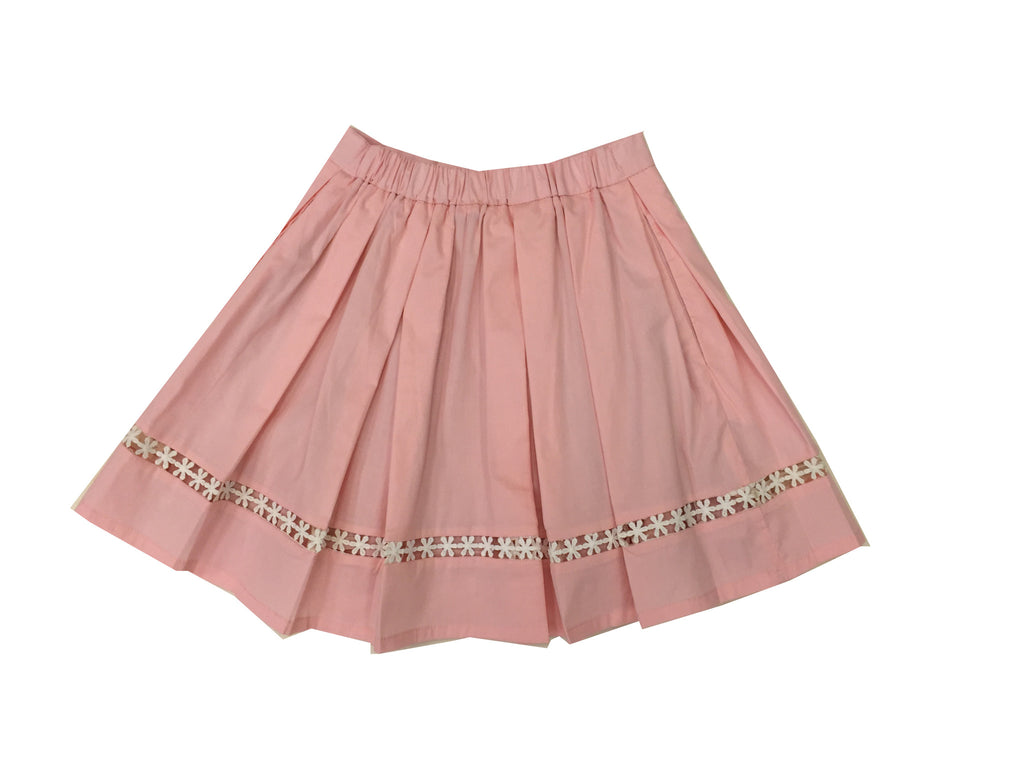Poplin Lace Trim Skirt