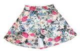 Girl's cotton print skort