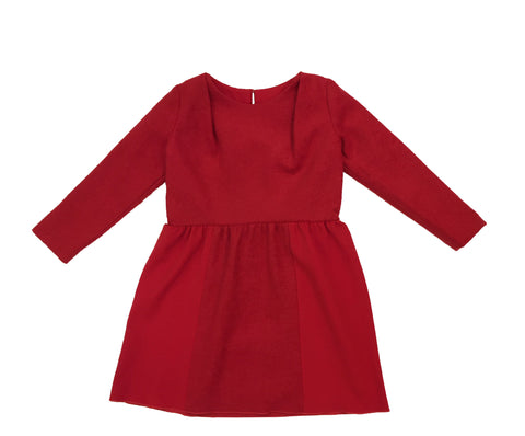 Wool Dress - Ruby