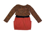 Boucle Wool Mix Dress - Orange