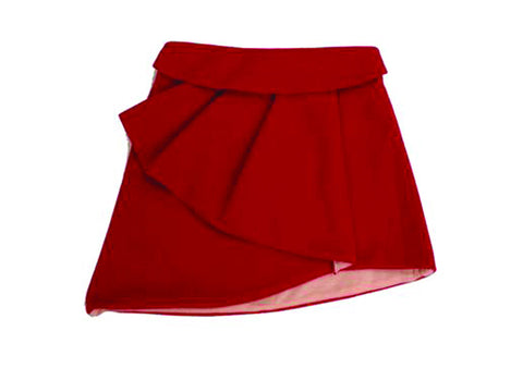 Pleated Felt Skirt