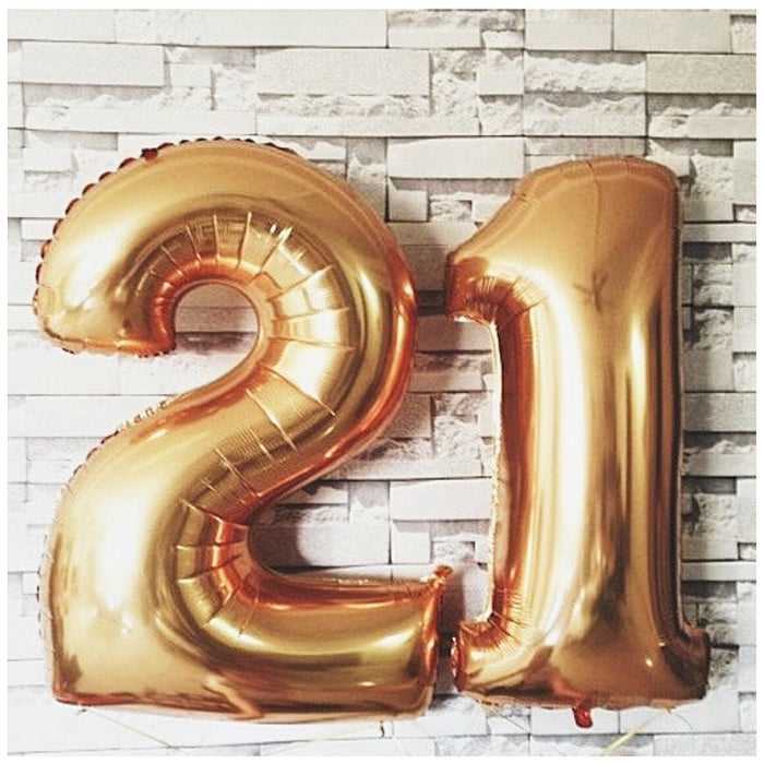 Number Balloons, 40 inch (GOLD)