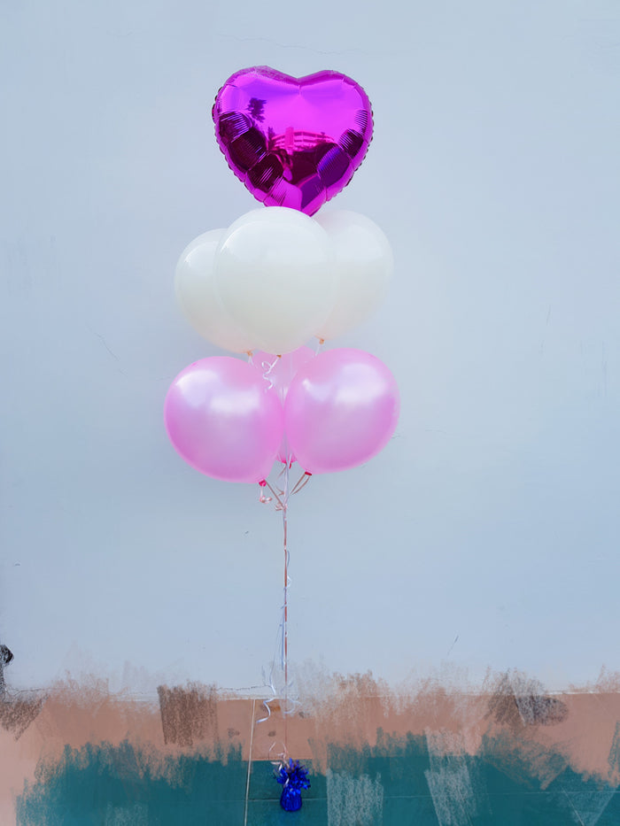 pink balloon bouquet for girls