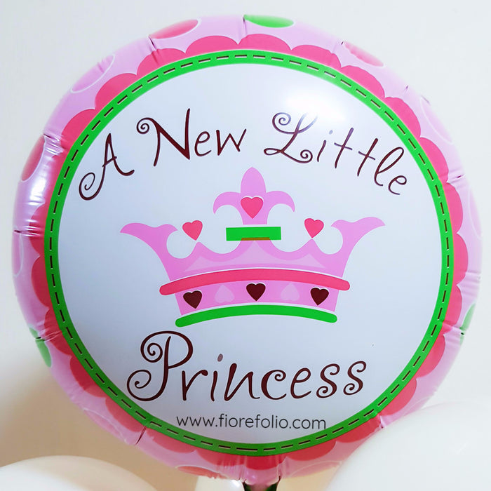 newborn / baby shower balloon. A new little princess foil balloon