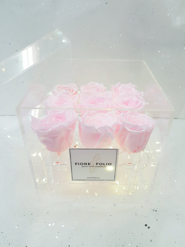 preserved pink roses flower singapore delivery