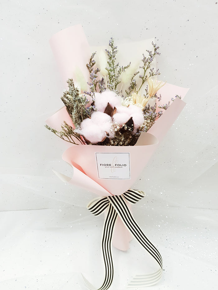 valentine cotton plant bouquet singapore delivery