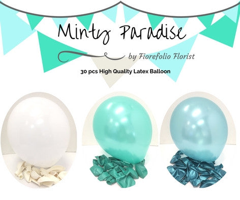 Tiffany blue themed balloon package