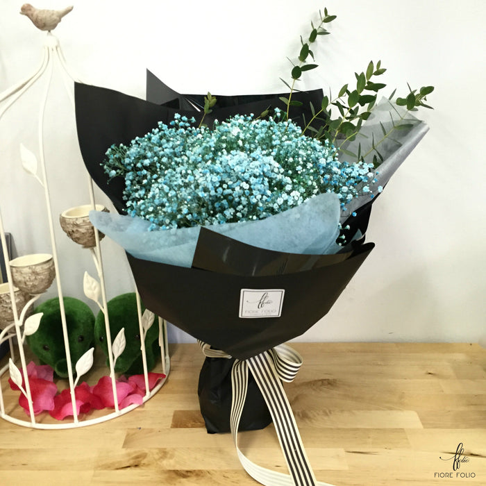 blue baby breath bouquet singapore