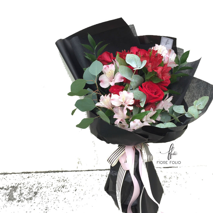 9 stalks roses bouquet singapore