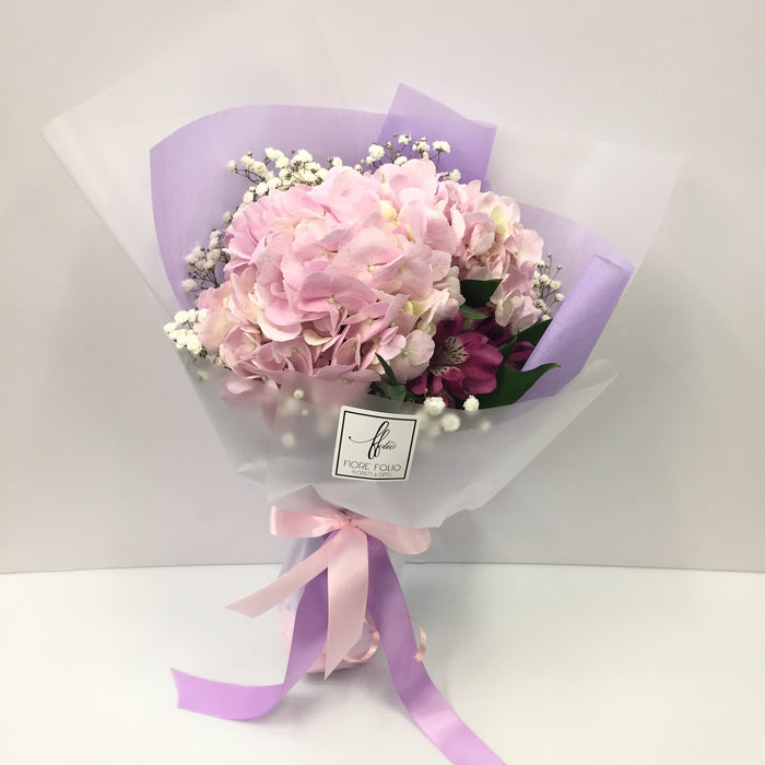 pink hydrangea vday bouquet singapore