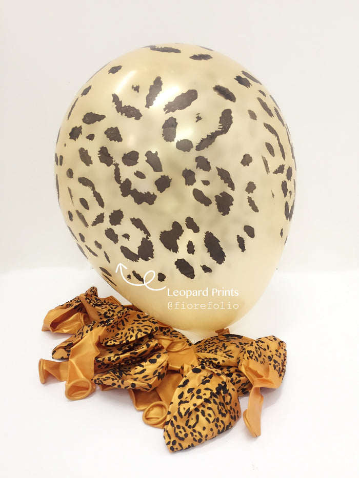 leopard prints safari animal themed party helium balloon