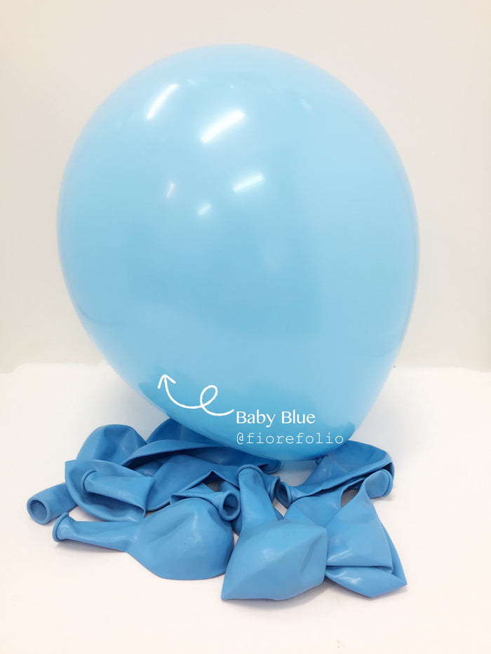 baby blue party helium balloon