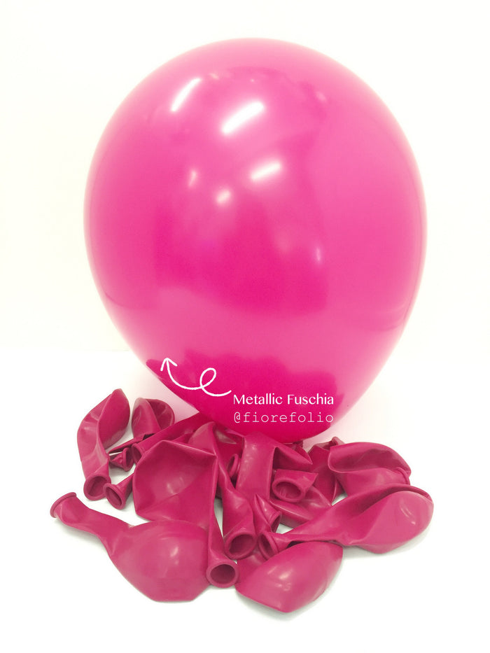 hot pink helium balloon