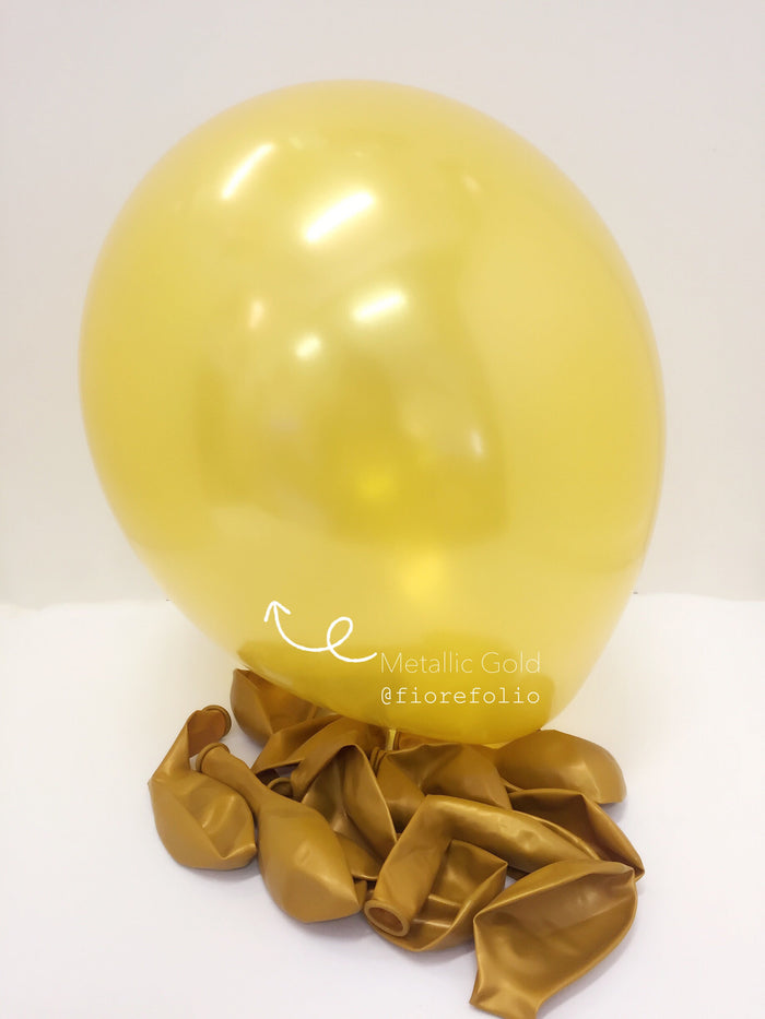 metallic gold helium balloon