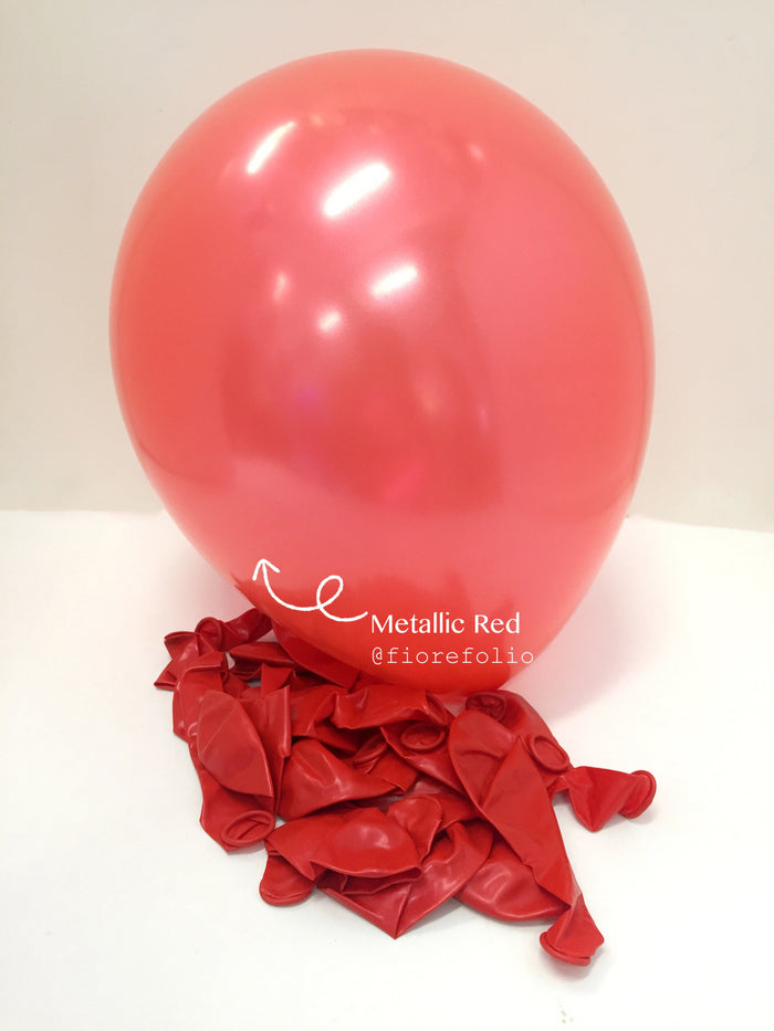 red party latex helium balloon