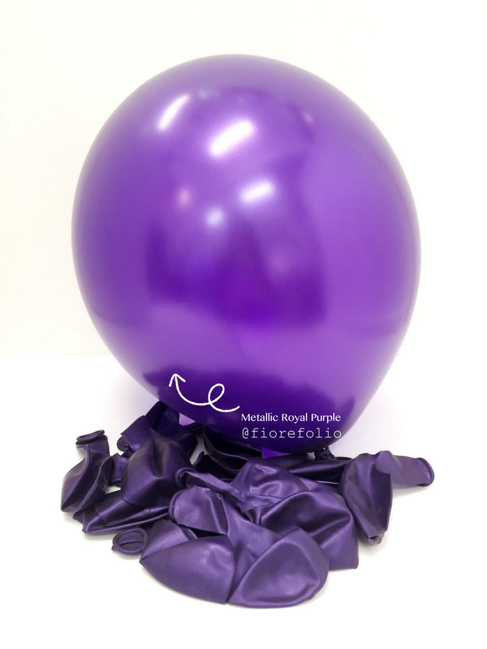 metallic royal purple helium balloon