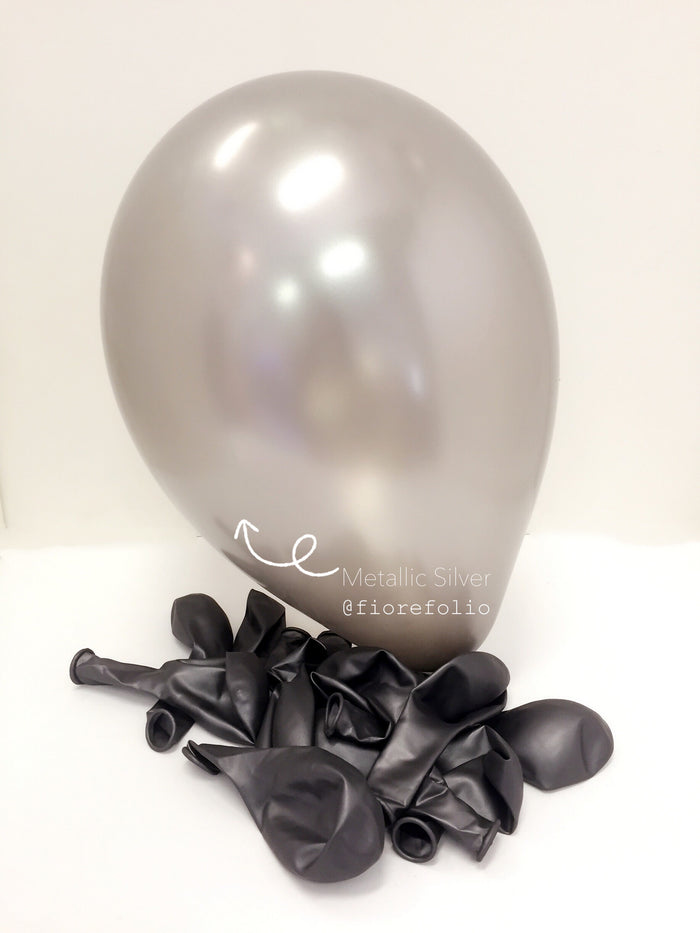 metallic silver helium balloon
