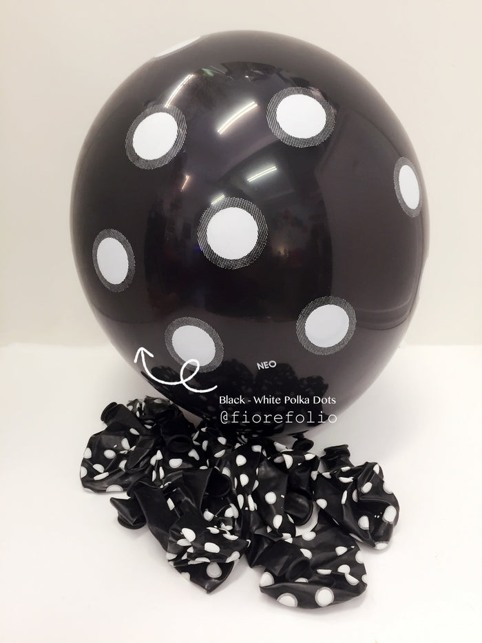 black polka dot helium balloon party singapore