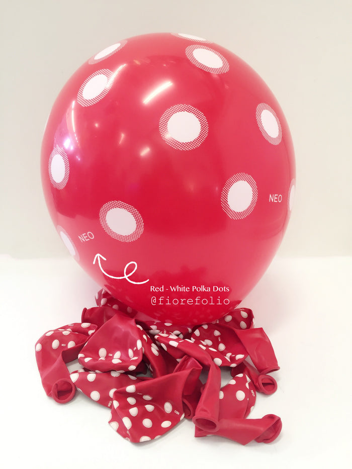 red polka dot party helium balloon