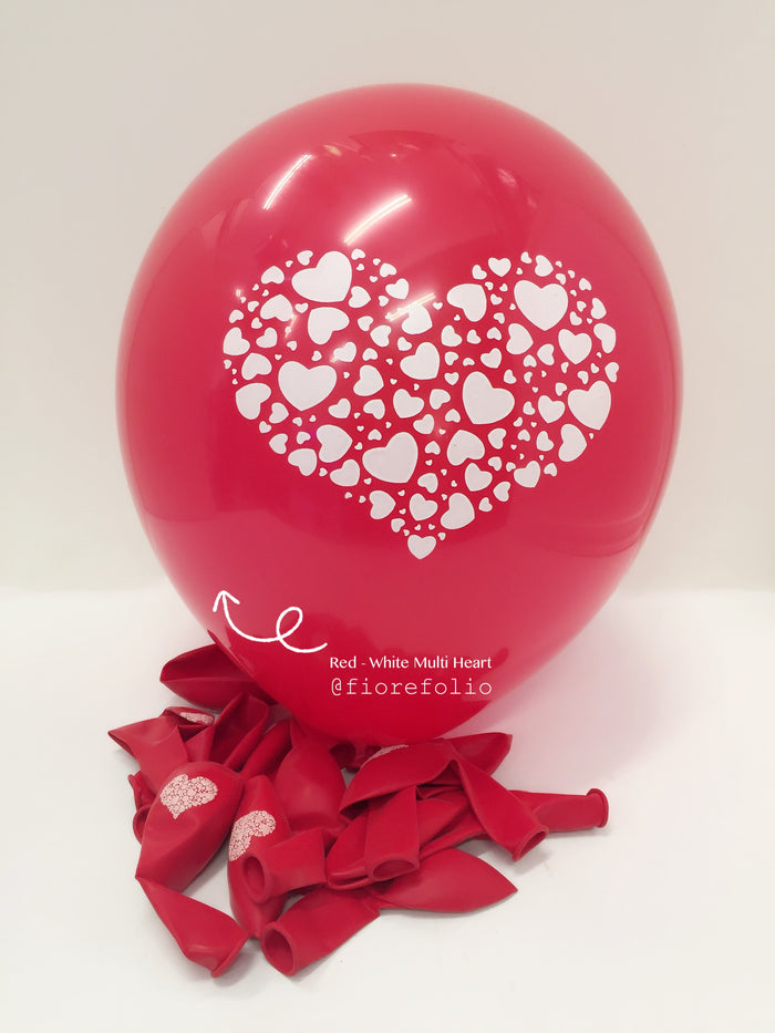 wedding and proposal heart shaped prints helium balloon