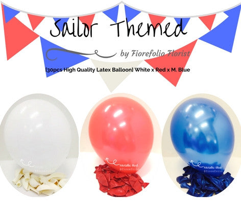sailor themed helium balloon package