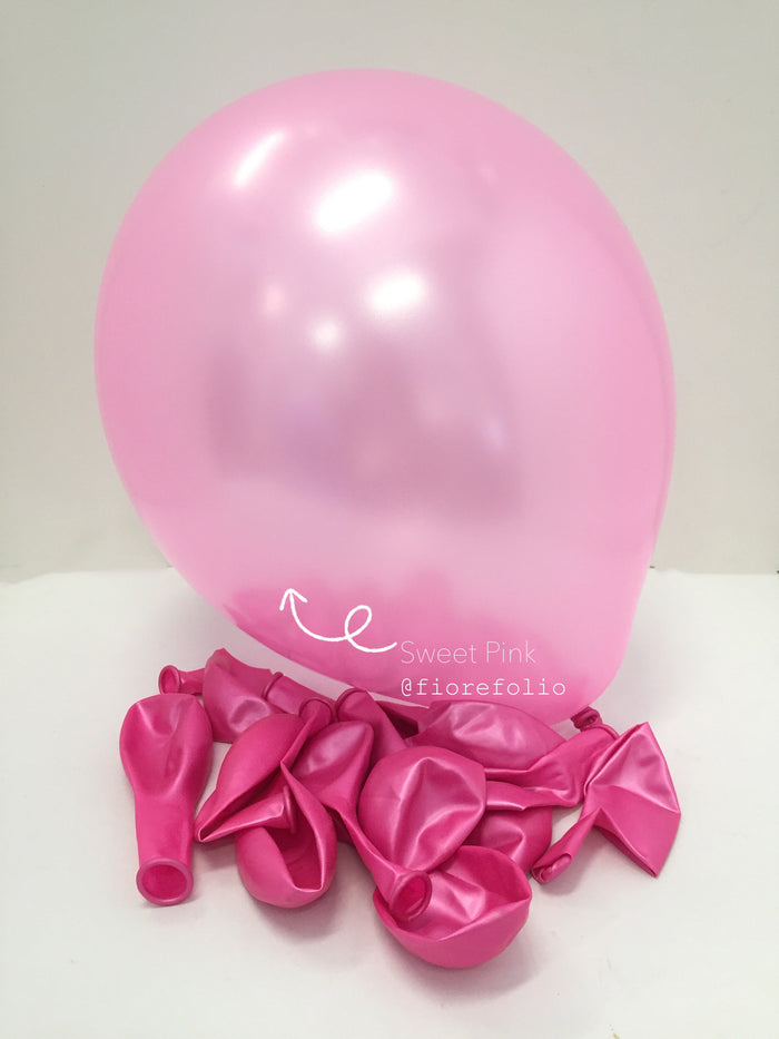 pink latex helium balloon