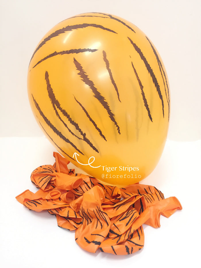 safari themed party helium balloon - tiger stripes