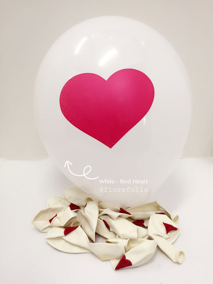 proposal wedding helium balloon with heart shaped prints