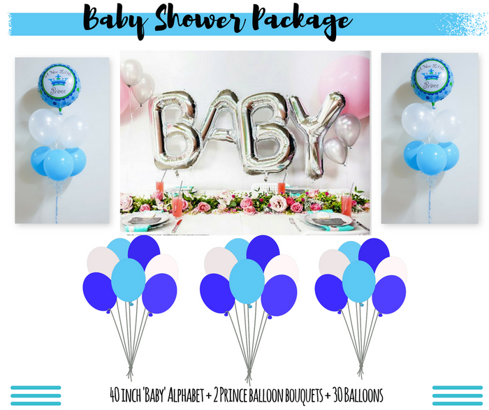 baby boy baby shower balloon delivery package