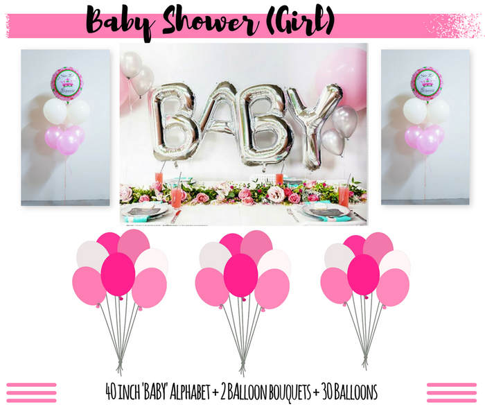 baby girl baby shower balloon delivery package