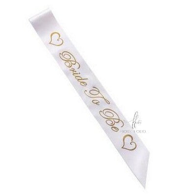 Bride-to-be sash [White]