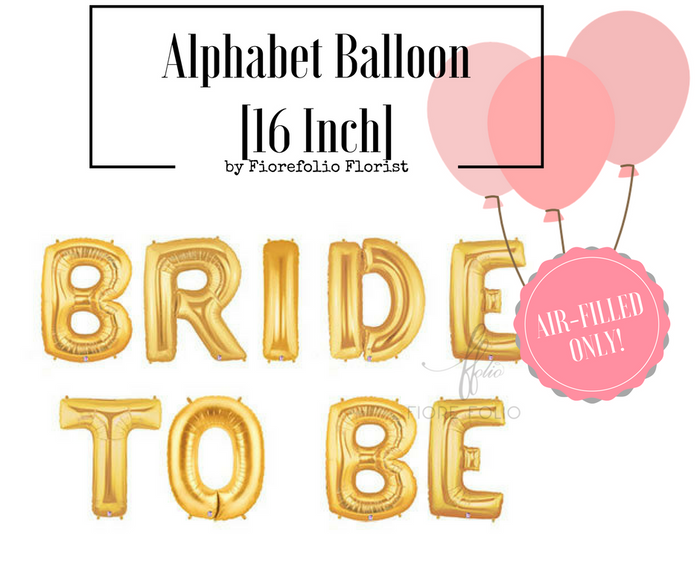 bride to be party alphabet balloon
