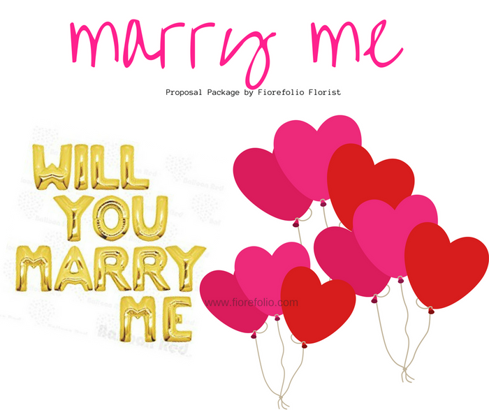 budget marry me balloon proposal package