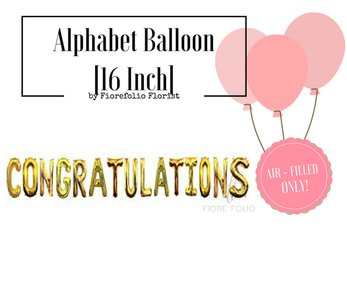 congratulations alphabet letter foil balloon singapore